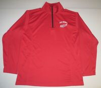 NHL Official Licensed Detroit Red Wings 1/2 Zip Long Sleeve LS Pullover Small