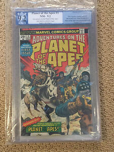 Planet of the Apes 1 PGX 9.2 OW/White Pages (Marvel 1975) not CGC