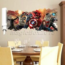 Fashion Wall Decals Avengers Captain America Mural Stickers Kids Room Wallpaper