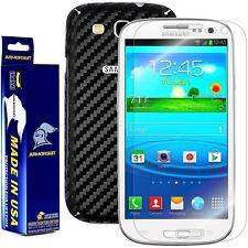 ArmorSuit MilitaryShield Samsung Galaxy S3 Screen + Black Carbon Fiber Skin! New