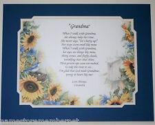 Personalized Poem for Grandma or Nana Gift **Birthday Gift Idea **L@@K**