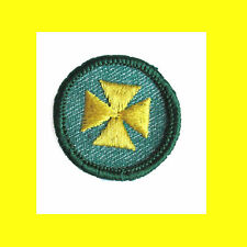 1950s HEALTH AID Maltese Cross Intermediate Girl Scout Badge Multipl=1 Ship Chrg