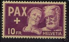 Switzerland MNH stamp Sc#305 Zumstein #274 $200 **