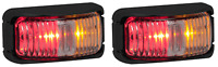 2 LED RED/AMBER MARKERS TRUCK TRAILER UTE CAB  42ARM