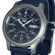 SEIKO 5 AUTO MILITARY STYLE ROYAL BLUE FACE AND NYLON STRAP SNK807K2 SNK807