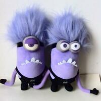 Despicable Me Evil Minions Plush Purple Stuffed Animal Monster OneEyed Doll 30cm
