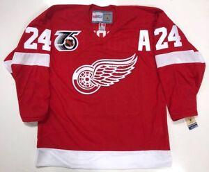 BOB PROBERT DETROIT RED WINGS CCM 1991 NHL 75th ANNIVERSARY JERSEY NEW W/TAGS