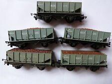 Vintage Triang TT Gauge T274 5 x Ore Wagons
