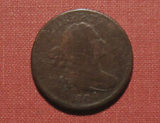 1804 CROSSLET WITH STEMS DRAPED BUST HALF CENT - MODERATE DETAILS, CLEAR DATE!