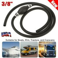"""Marine Outboard Boat Motor Fuel Gas Hose Line Assembly 3/8"""" with Primer Bulb USA"""