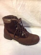 Clarks Brown Ankle Leather Boots Size 4D