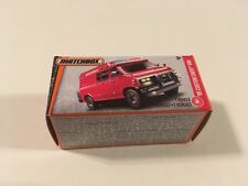 Matchbox Red 1995 Custom Chevy Van Diecast Model 1:64 with Box