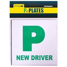 Simply 2 x Fully Extra Strong Magnetic Car P Plates Learner Driver Just Passed