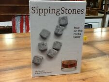 Sipping Stones - Set of 9 Grey Whiskey Chilling Rocks - 100% Soapstone!