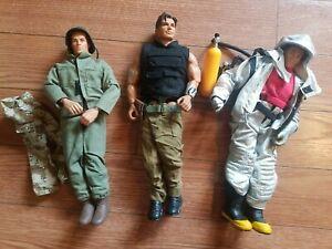 "Vintage G.I Joe 1996-1998 12"" Tall Mattel/Hasbro Action Figure Max Steel, Lot 2"