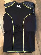 Men's McDavid HexPad Sleeveless Football Shirt.Sz.Med.Black Gray Yellow