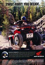 2002 Honda Fourtrax Foreman ES ATV - Original Advertisement Print Ad J272