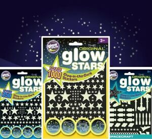 Original Glow Stars Co. Glow in the Dark Stickers - UV Reactive Stars or Space