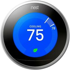 Nest T3007Es 3.4 Learning Thermostat 3rd generation Silver