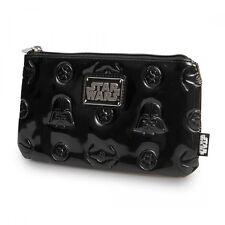 Loungefly Star Wars Darth Vader Darkside Shiny Black Embossed Pencil Case