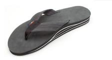 Rainbow Sandals 302ALTS Black Leather Double Layer Flip Flop Men's sizes S-XXXL!