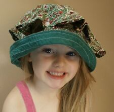 Vintage Cap Bonnet 7.5 Small Adult Child Hat Multi Color Button Top Fashion Usa