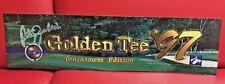 Original 1997 Peter Jacobsen's GOLDEN TEE '97 Arcade Marquee Translite !