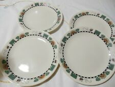 CORELLE SUNFLOWERS SALAD OR LUNCH PLATES SET OF 4 BEES SUNFLOWERS SEEDS 5 CENTS