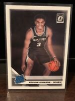 2019-20 Donruss Optic Keldon Johnson RC Spurs Base Rated Rookie #186 Kentucky
