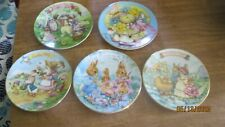 Avon Small Easter Plates, 22 Kt Gold ( 5)
