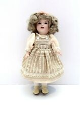 "Full Porcelain Repro 13"" Doll Blonde With Brown Eyes"