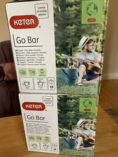 Keter 16 Litre Go Bar Cool Bar Portable Side Table Ice Box Party Table Cooler