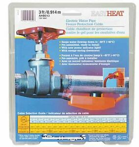 Easy Heat Tape 3' AHB-013 Electric Pipe Heating Cable Freeze Protection