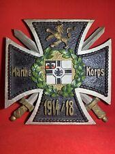 *Original Ww1 Imperial German Kriegsmarine Marine Navy Seebataillon Award Plaque