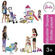 More details for barbie babysitters with feeding time, bedtime, playground & stroller playset