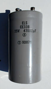 CAPACITOR 47000uF 25VDCW - COMPUTER BUS INDUSTRIAL GRADE HIGH RIPPLE CURRENT
