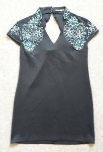 Boohoo Ladies Dress Open Back Embellished Women's UK 10 - EU 38 - US 6