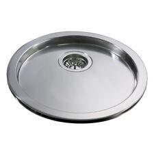 CDA KR20SS Stainless Steel Single Round Drainer Kitchen Sink
