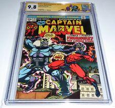 Captain Marvel #33 CGC SS Signature Autograph JIM STARLIN 9.8 Origin Thanos 💎
