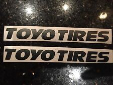 "X2 6"" Toyo Tire Vinyl Deacal Sticker ANY COLOR"