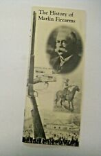 NOS VINTAGE 2000 THE HISTORY OF MARLIN FIREARMS ADVERTISING BOOKLET ~ VERY C@@L
