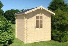 Gartenhaus Blockhaus Gerätehaus Holz 220x220 cm, 28mm, 372813-A