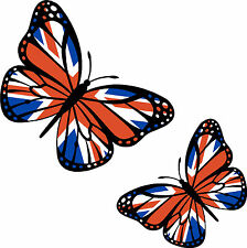 Union Jack Flag  Butterfly Car Van Bodywork Laptop Sticker UJB1