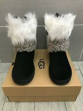 GENUINE NEW UGG AUSTRALIA CLASSIC SHORT PATCHWORK FLUFF BOOTS, UK 4/37