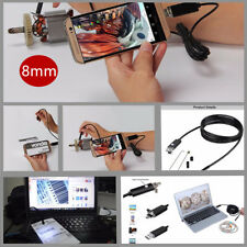 Waterproof 2IN1 8MM Android HD Endoscope Snake Borescope USB Inspection Camera