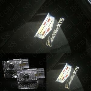 2X Car LED Ghost Logo Door courtesy projector Lights HD For Cadillac XT5 2017-up