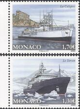 Monaco 2017 Ocean Research/Boats/Ships/Exploration/Transport 2v set (mc1114)