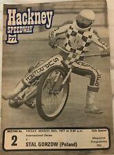 Hackney Speedway: 4 Programmes 1977 V Stal Gorzow, Reading, Ipswich, 4Tt