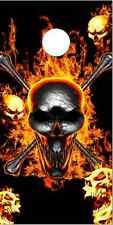 Flaming Skulls Skully Cornhole Wrap Bag Toss Skin Decal Sticker Wraps