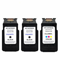 2 Black PG-245XL & 1 Color CL-246XL Ink Cartridge For Canon PIXMA MG2420 MG2922